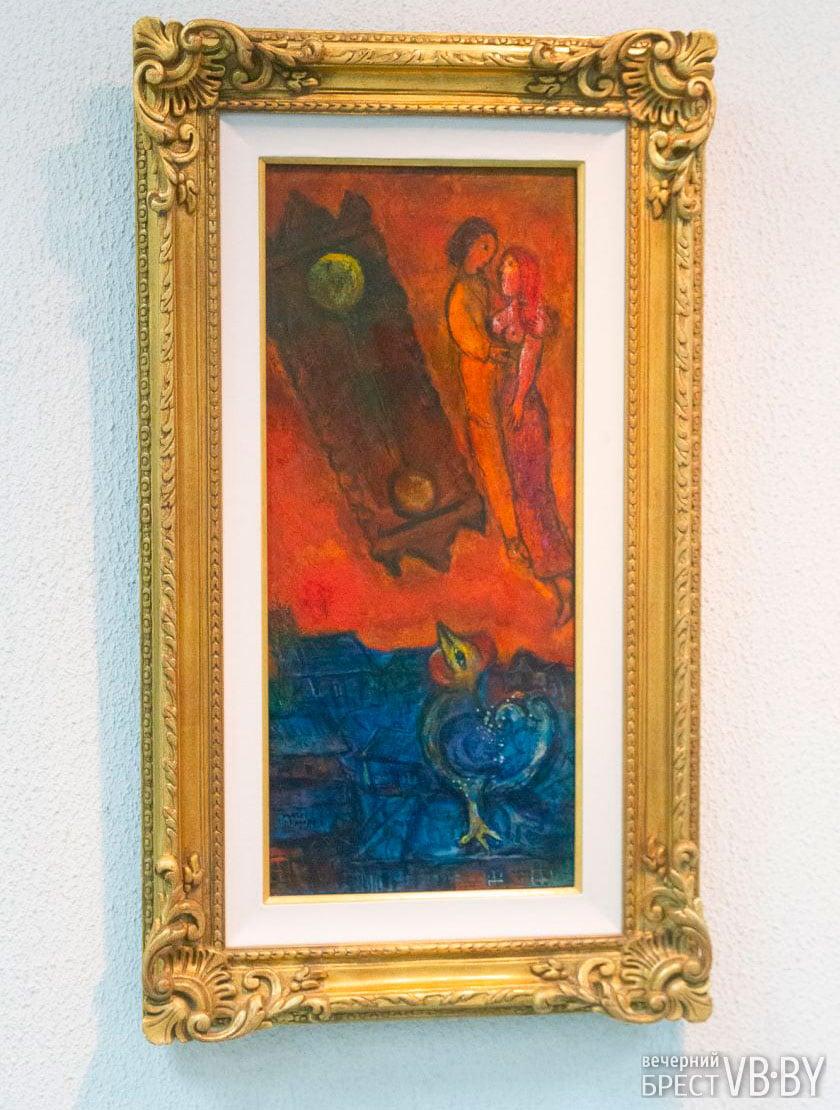 Марк Шагал. Часы на пылающем небе