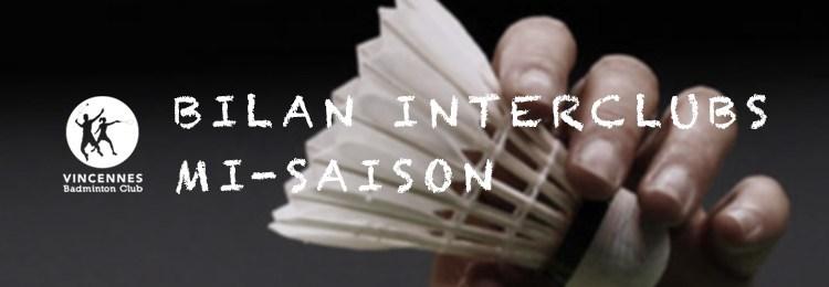 Bilan Interclubs à mi-Saison  (2015-2016)