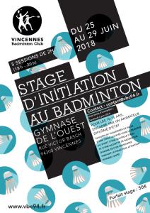 Stage jeunes (Juin 2018)