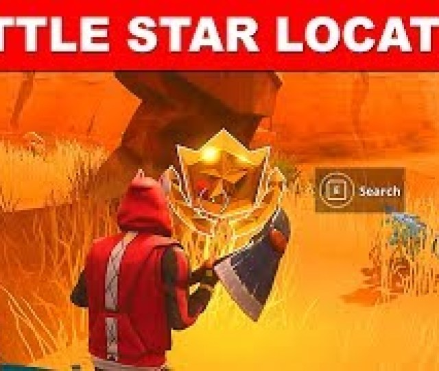 Fortnite Week  Battle Star In Search Between An Oasis Rock Archway And Dinosaurs Location