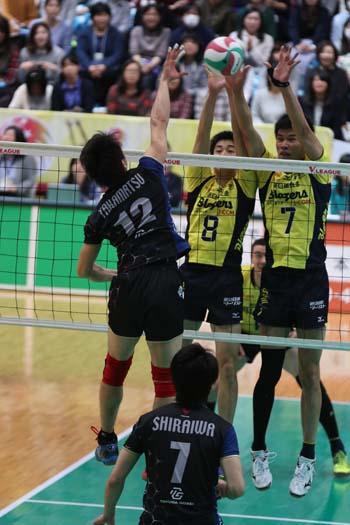 堺のブロックは10試合終了時点で8チーム中トップ