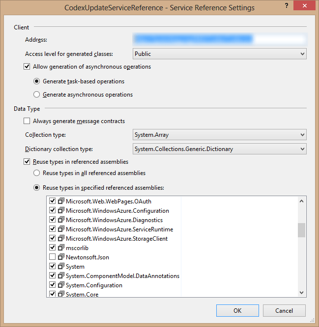 Cannot import wsdl:portType error when adding a service reference