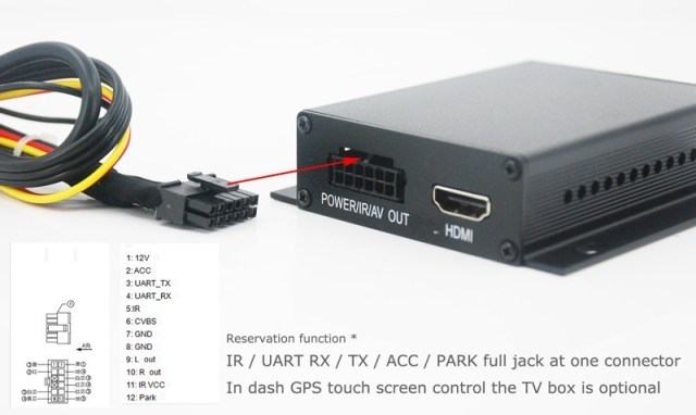 DVB-T7200 Car DVB-T TV box diversity 2 antenna MPEG2 H.264 STB