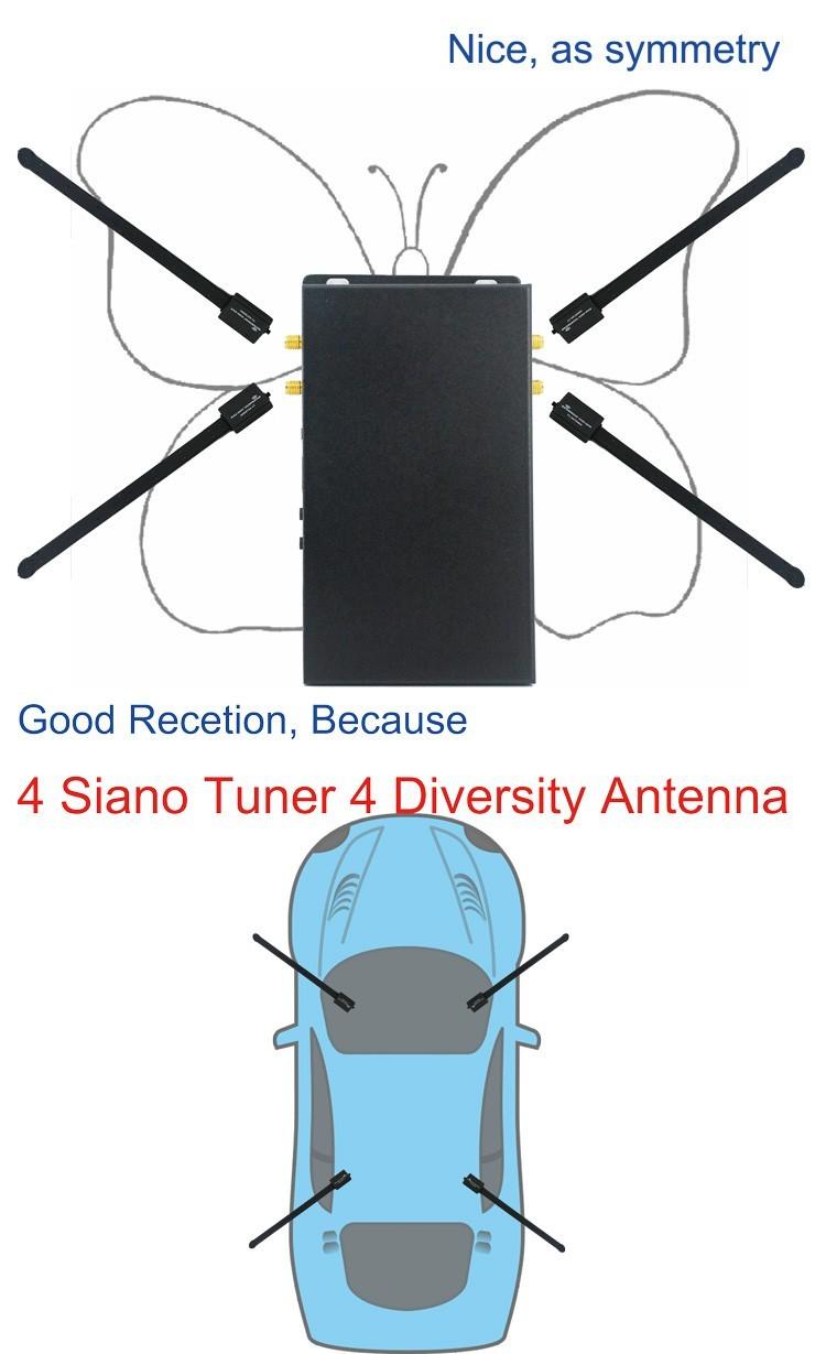 DVB-T240_4x4_Siano_Tuner_Diversity_Antenna_Car_dvb-t2_digital_receiver