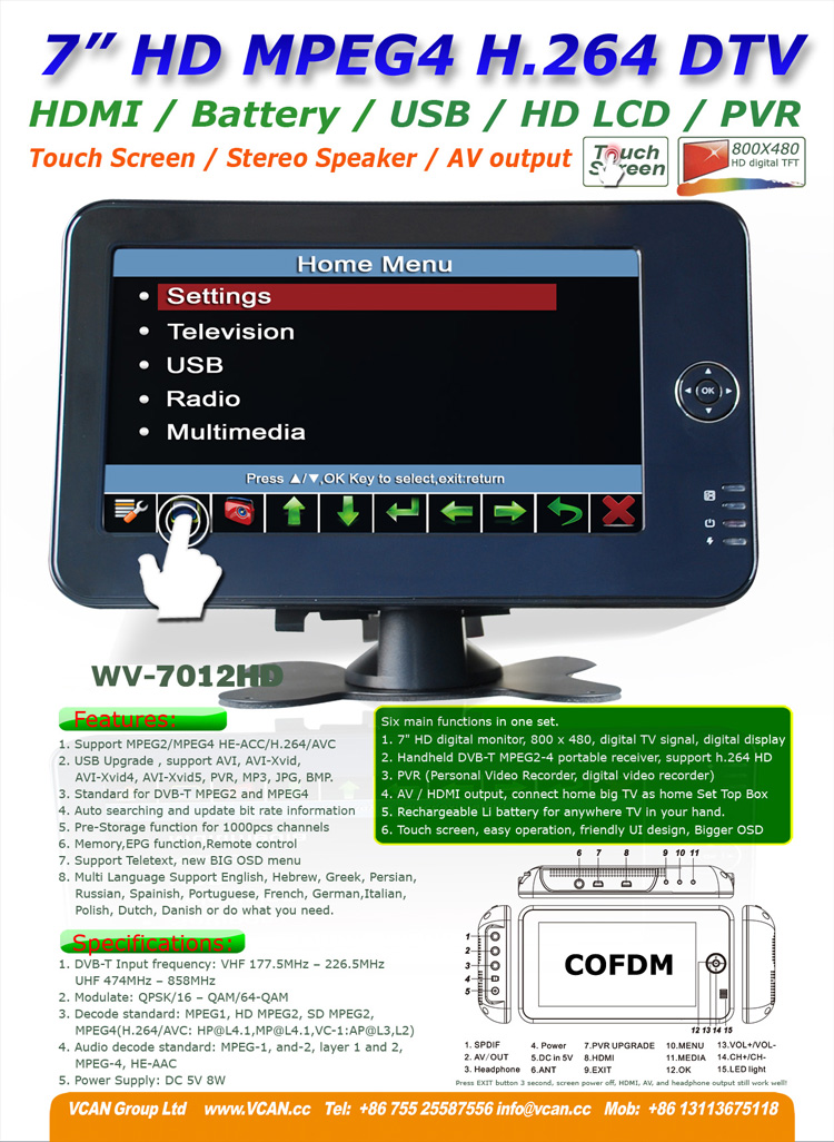 WV-7012HD-outdoor_wireless_cofdm_receiver_built_in_battery_portable_hd_digital_receiver