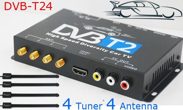 Auto Dvb T2 4 Tuner 4 Antenne Digital Fernsehempfänger Für High