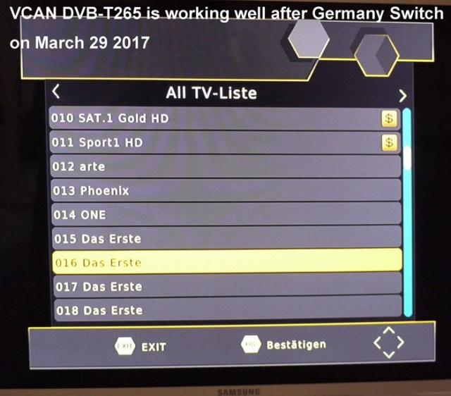 Germany DVB-T2 H.265