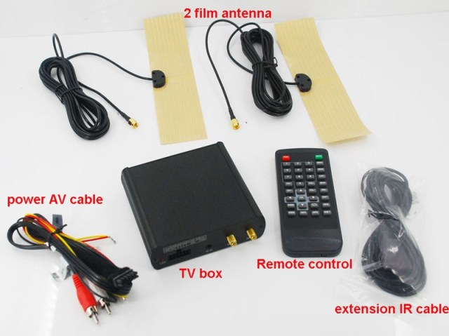 Car ISDB-T 2 tuner Full Segment dual antenna for Brazil Philippines Chile ISDB-T8800 5 -