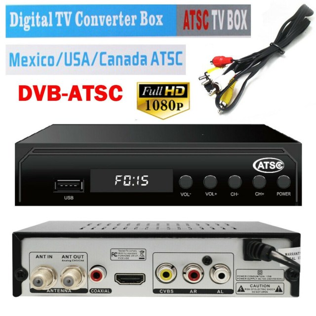Mexico ATSC TV Receiver Digital TV MPEG4 HDMI USB PVR VCAN1078 for USA Canada 13 -