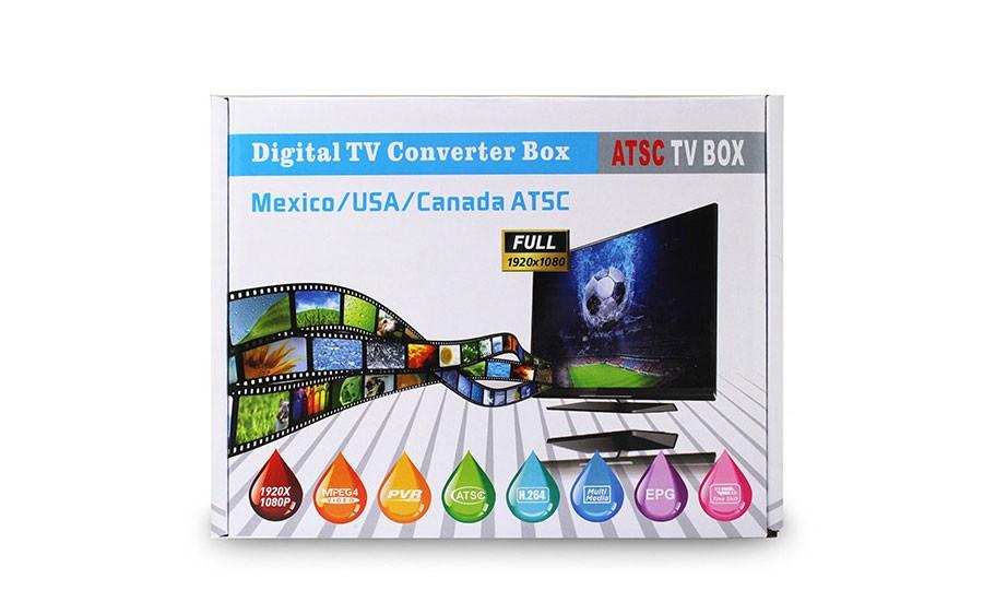 Mexico ATSC TV Receiver Digital TV MPEG4 HDMI USB PVR VCAN1078 for USA Canada 8 -