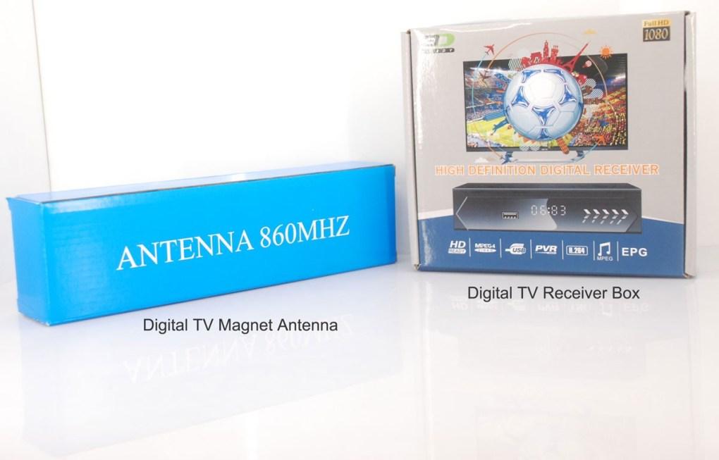ISDB T TV Receiver Box plus Antenna