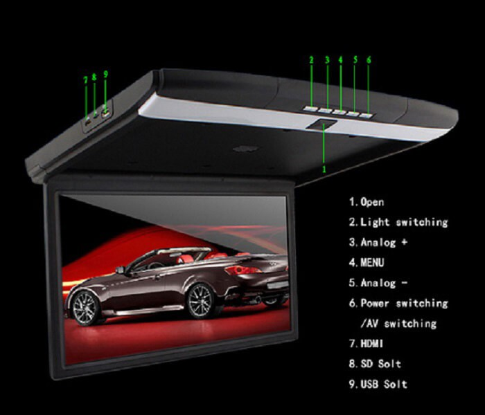 17 roof mount bus monitor moive player