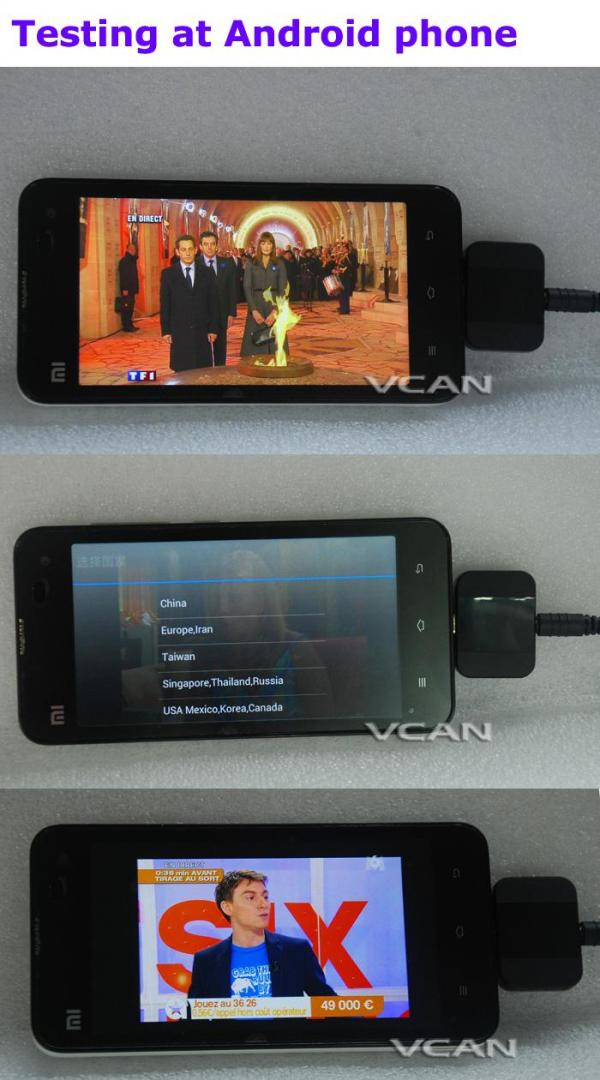 Android DVB-T2 DVB-T TV receiver for Phone Pad Micro USB TV tuner apk