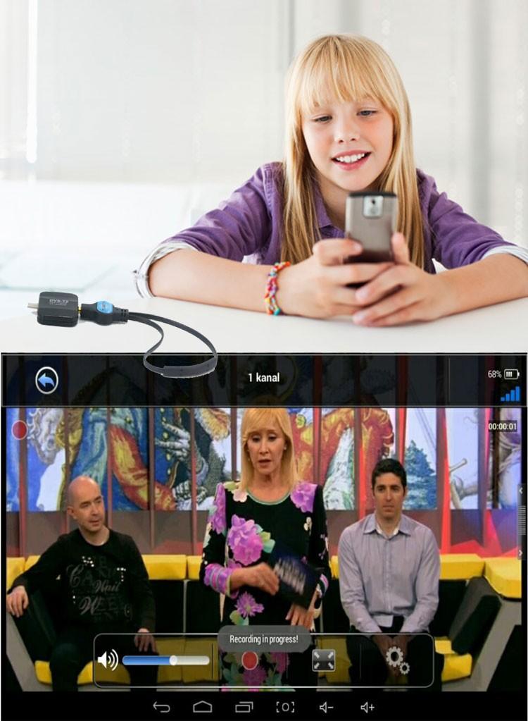 ATSC USB TV stick mobile phone use tuner USA Canada Mexico micro usb android phone pad ATSC-77 21 -