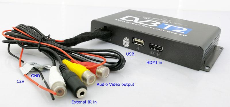 Car DVB-T2 H265 HEVC Codec Digital TV Receiver Auto Mobile Germany Standard 2 antenna H264 HD for all dvb country 12 -