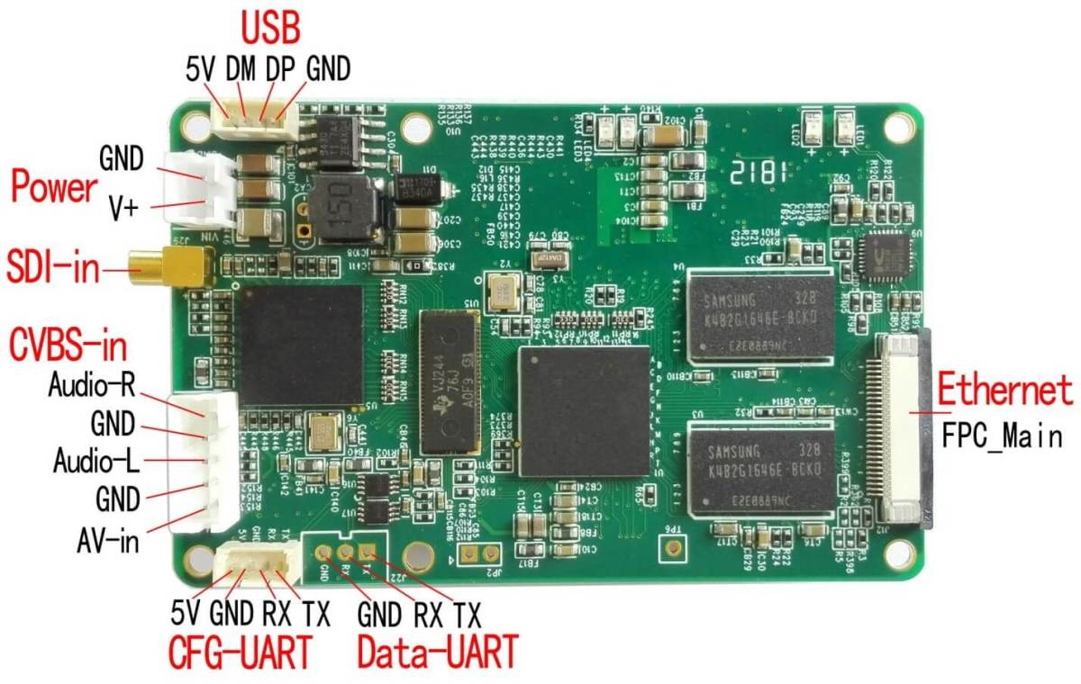 COFDM Wireless Video Transmitter HDMI cvbs input mini modulator module long distance fpv uav 905t 13 -