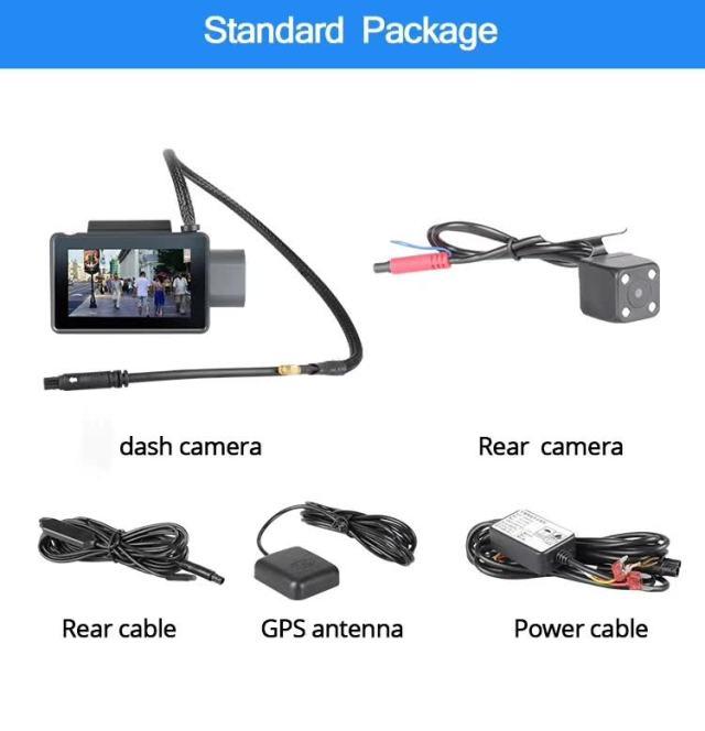 Android DVR dashcam car camera 3.0 inch full 1080 HD GPS logger dual camera video recorder Vcan1608 17 -