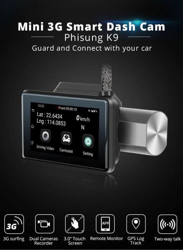 Android Dash Cam Car DVR Camera GPS Logger 3G WiFi Dual Lens WDR Video Recorder 5.1 Rearview camera Vcan1608 13 -