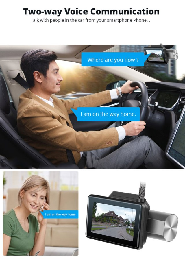 Android DVR dashcam car camera 3.0 inch full 1080 HD GPS logger dual camera video recorder Vcan1608 10 -
