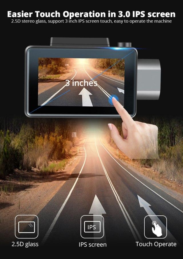 Android DVR dashcam car camera 3.0 inch full 1080 HD GPS logger dual camera video recorder Vcan1608 12 -