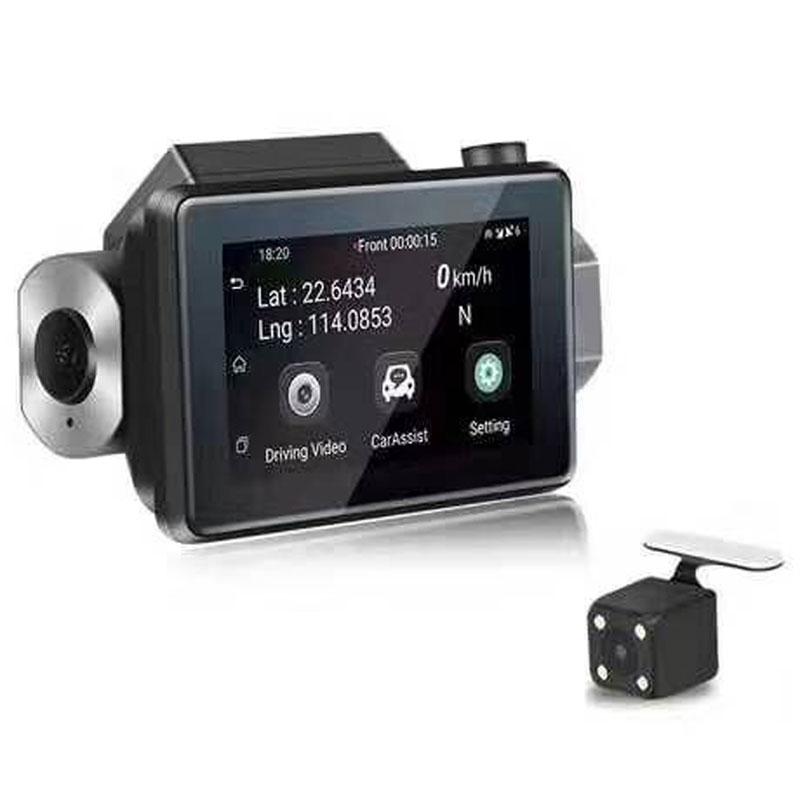 Android DVR dashcam car camera 3.0 inch full 1080 HD GPS logger dual camera video recorder Vcan1608 4 -