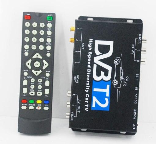 2 antenna car DVB-T2 Two tuner tv Diversity USB HDMI HDTV High Speed dvb-t22 6