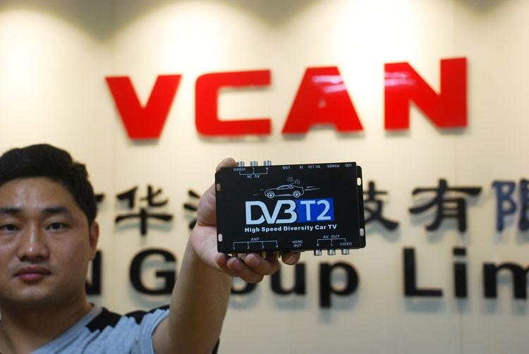 Car DVB-T2 DVB-T High Speed Digital TV Receiver automobile DTV box DVB-T221 8