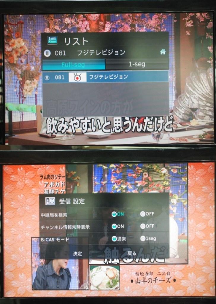 日本のデジタルTV