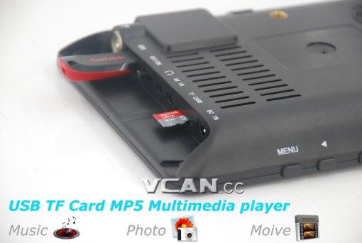 7 DVB-T2 7 inch Digital TV monitor Analog TV USB TF MP5 player AV in Rechargeable Battery 2