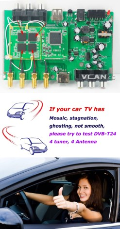 Car DVB-T2 HDTV Receiver