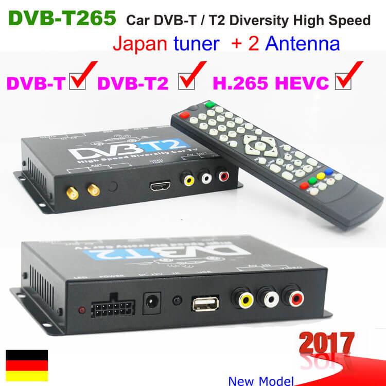 Deutscher DVB-T2 H.265 Receiver MegaSat HD 650 T2 inkl. DVB-T 30 Antenne freenet TV-Entschlüsselung, Front-USB 2