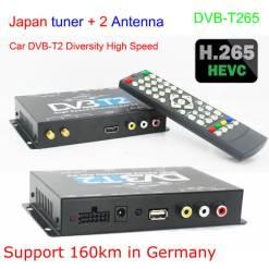 Germany DVB-T2 H.265 HEVC Codec New Model DVB-T265 auto mobile digital car dvb-t2 tv receiver 10