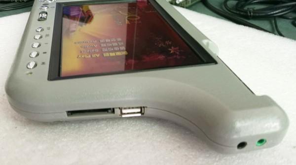 7 inch sun visor DVD player sunvisor left right side USB SD movie player black grey beige factory promotion TM-6686 7010 37