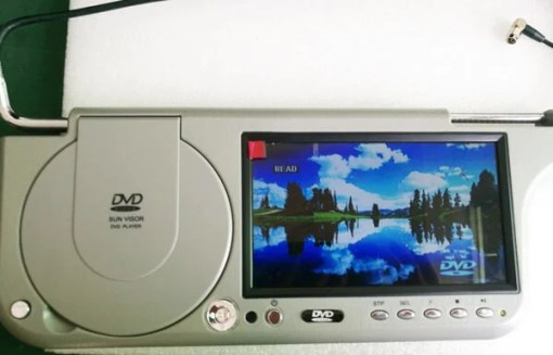 7 inch sun visor DVD player sunvisor left right side USB SD movie player black grey beige factory promotion TM-6686 7010 6