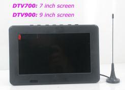 7 inch ISDB-T Digital ISDBT TV HD MPEG4 FULL SEG Analog TV USB TF MP5 player AV input Rechargeable Battery 9
