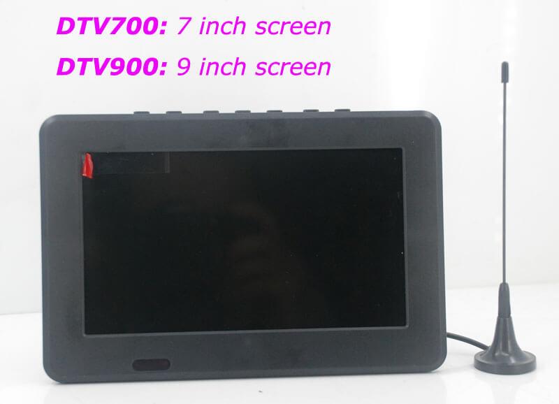 7 DVB-T2 7 inch Digital TV monitor Analog TV USB TF MP5 player AV in Rechargeable Battery 21