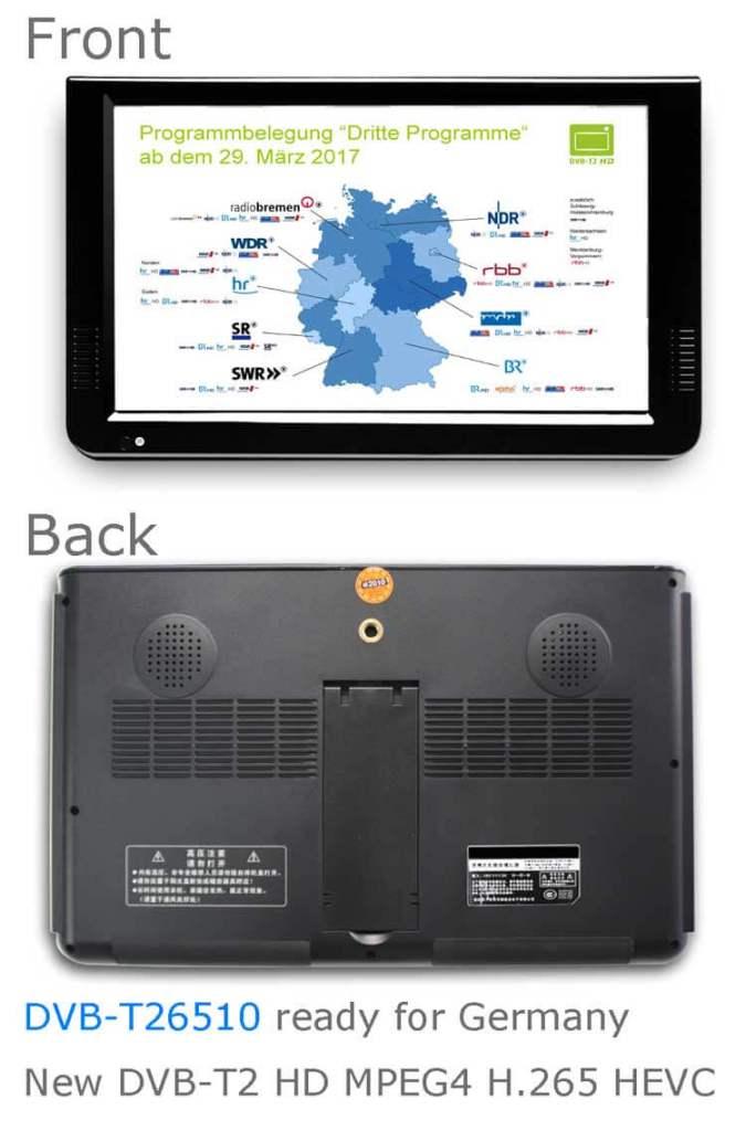 10 inch DVB-T2 H265 Digital TV Receiver compare 2