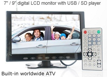 9 inch monitor with USB SD mp5 player Vcan0951 1