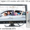 9 inch monitor with USB SD mp5 player Vcan0951 7