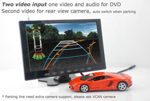 9 inch monitor with USB SD mp5 player Vcan0951 12