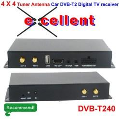 4 x 4 Siano Tuner Diversity Antenna Car dvb-t2 digital receiver 4