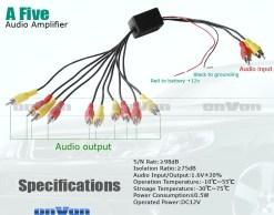 Audio Distribution signal Splitter Amplifier distribute 5 Output 7
