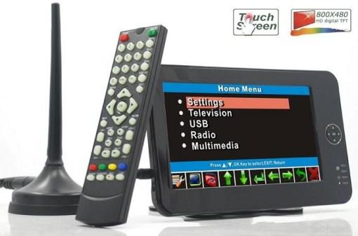 7 inch handheld HD wireless COFDM receiver portable 4