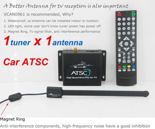 Car ATSC Digital TV receiver for USA Canada Mexico 5