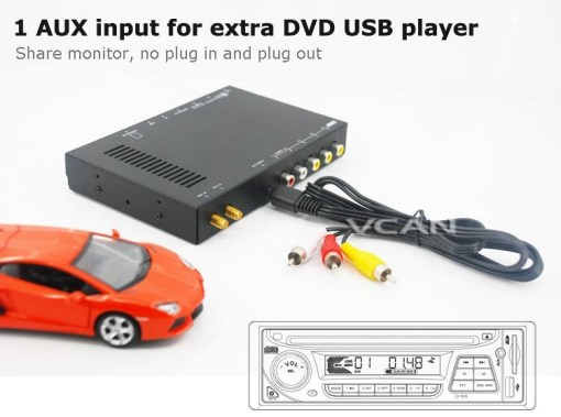 Car DVB-T digital tv receiver 2 antenna tuner TNT TDT 6
