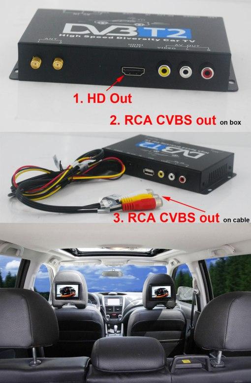 Car DVB-T2 DVB-T MULTI PLP Digital TV Receiver 8
