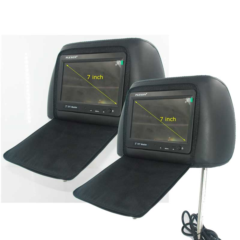 7 inch headrest monitor with pillow bag LED backlight cover zipper 19