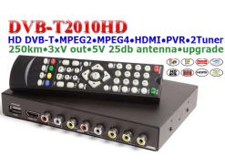 Car DVB-T Receiver MPEG4 H.264 2 tuner 2 diversity antenna Booster Recorder DVBT 18