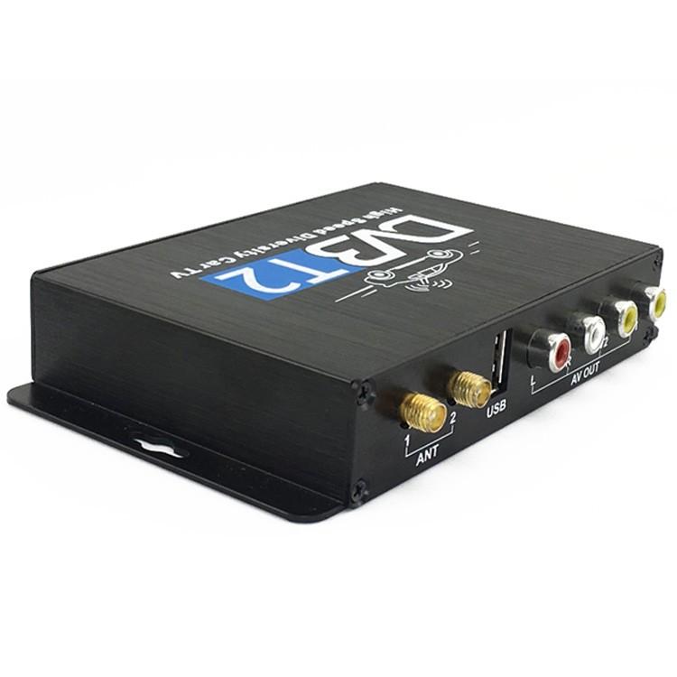 Car DVB-T2 DVB-T Multi PLP Digital TV Receiver 2 Antenna Diversity Dual Aerial H264 MPEG4 HD High Speed FTA STB 17