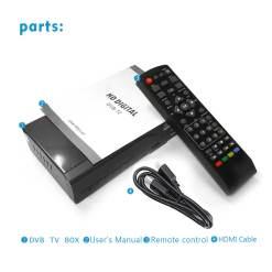 Home DVB-T2 H.265 HEVC H.264 DVB-T Receiver HDMI RCA Terrestrial Digital TV Receiver TV Tuner SCART MPEG4 12